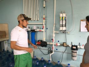 Pablo Explaining Filtration System (Solar Powered!)